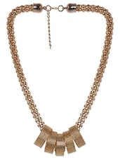 Gold Metallic Necklace - By