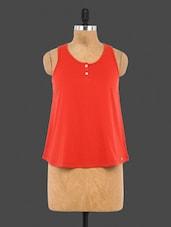 Red Plain Cotton Top - CULT FICTION