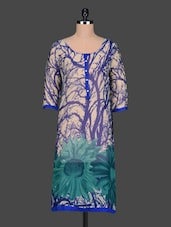 Quarter Sleeves Floral Print Kurta - Free Living