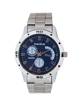 silver stainless steel watch -  online shopping for Men Analog Watches