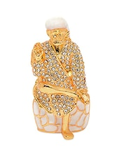 White Gold Plated Brass And Copper Sai Baba Idol - Alankruthi