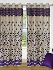 Set Of 4 Ultima Leaf Panel Curtain & Cushion - By