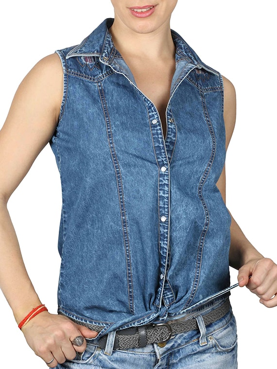 24120717fcb64d Buy Blue Denim Shirt by Iralzo - Online shopping for Shirts in India ...