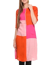 multi colored viscose straight kurta -  online shopping for kurtas