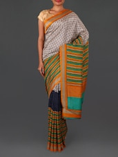 Multicolour Printed Art Silk Saree - By