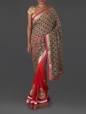 Gota Border Printed Georgette Saree - Jmilan
