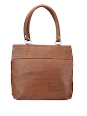 Solid Double Tier Handbag - Bags Craze
