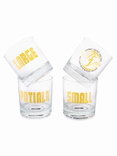 Printed Whiskey Glass Set Of 4 - By