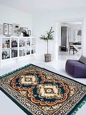 Presto Bazaar green colour traditional carpet -  online shopping for Carpets