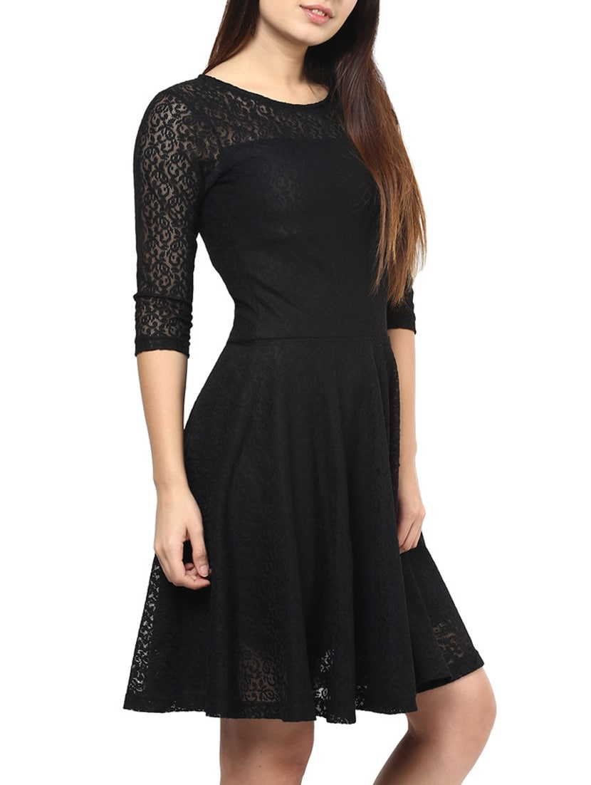 d311fab27 Buy Black Lace Dress for Women from Swagg for ₹1149 at 0% off ...
