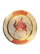 Multicoloured Brass Decorative Plate - By