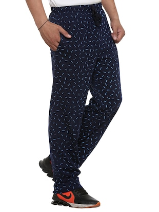 multi colored cotton  ankle length track pant - 11677985 - Standard Image - 4