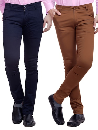 multi colored cotton chinos set of 2 - 11678605 - Standard Image - 1