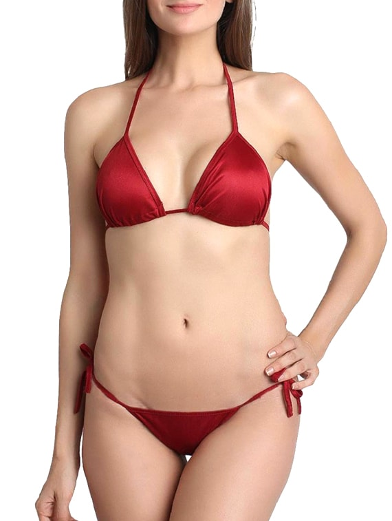 f5173bab13 Buy Red Satin Bra And Panty Set by You Forever - Online shopping for Bras  And Panty Set in India