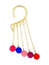 Multicolour Hanging Stone Ear Cuff - MoedBuille