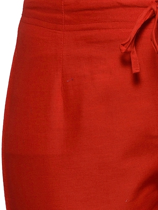 red cotton trouser - 11698446 - Standard Image - 4