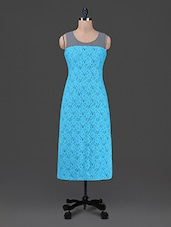 Round Neck Sleeveless Solid Lace Dress - Bumpkin