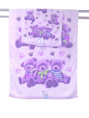 Purple cotton set of hand and bath towel - 11704377 - Standard Image - 1