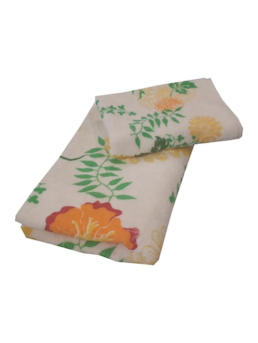 beige cotton set of hand towel and bath towel - 11704384 - Standard Image - 1