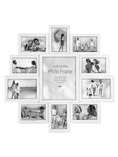 White Plastic Photo Frame With 11 Slots - Innova