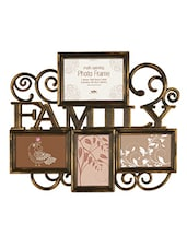 Brown Plastic Photo Frame With 4 Slots - Innova By HC