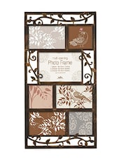 Brown Plastic Photo Frame With 7 Slots - Innova By HC