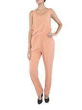Coral Sleeveless Polyester Jumpsuit - Collezioni Moda
