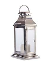Silver Polished Steel Candle Lantern - Consilium World