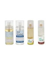 AirRoma Combo Of 4, Car Freshener 60ml, Car Freshener 60ml, Jasmine Air Freshener Spray 200ml & Air Freshener Spray 200ml - By