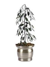 Metallic Planter With Tree - Magnificencia Home - 1173072
