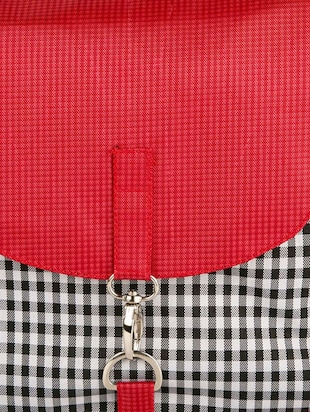red leatherette check printed sling bag - 11734883 - Standard Image - 4