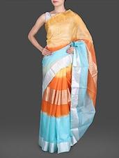 Multicolored Pure Silk Kota Saree - Maandna