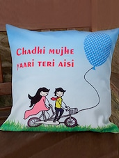""""""" Chadhi ���. Aisi """" Printed Friendship Day Cushion - Amigos By Thinking Of You"""