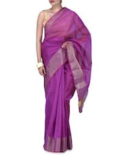 Pink Art Silk Saree - By