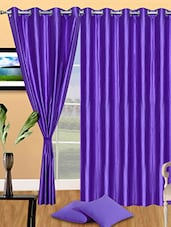 Set Of 3 Solid Purple Polyester Door Curtain - By