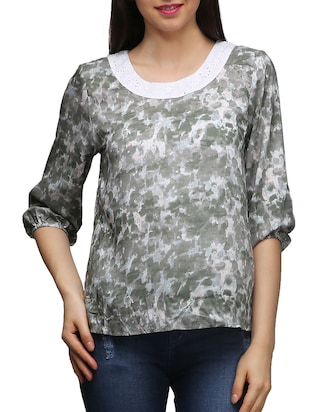 multi colored rayon top -  online shopping for Tops