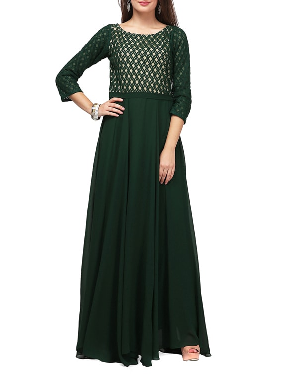 ec76117fc70 Buy Green Lace Maxi Dress for Women from Eavan for ₹2519 at 30% off ...