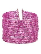 Pink Metallic Cuff Bracelet - Voylla