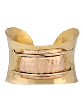 Gold Metallic Cuff Bracelet - By
