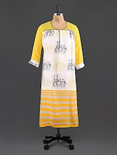 Green Embroidered Printed Georgette Kurta - By