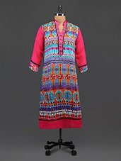 Embroidered Printed Georgette Kurta - By