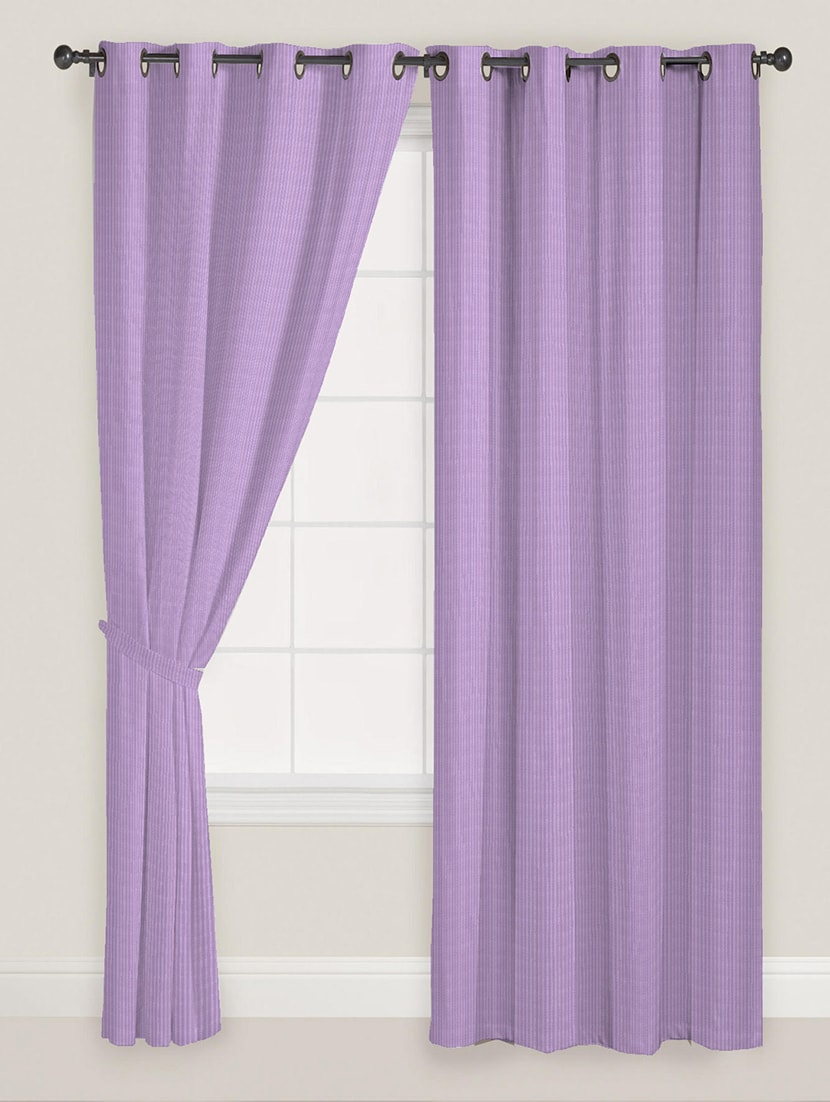Purple Colour Stripes Satin Curtain By Presto Bazaar Online Ping For Curtains In India 11786987