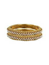 Gold Metal Bangle (set Of 2) - By