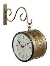 Silver Metallic Finish Vintage Station Clock - By