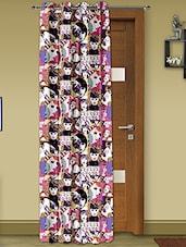 Multicoloured Satin Digital Print Door Curtain - Story @ Home