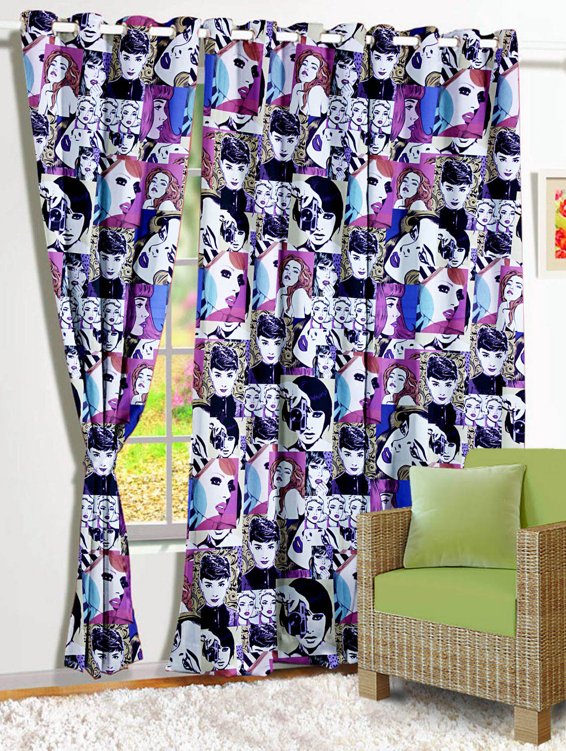 Story Home Purple Satin Window Curtains By Online Ping For In India 1182672