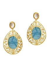 Blue Copper Drop Earring - By