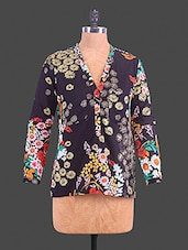 Multicolour Floral Printed Cotton Top - By