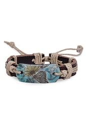 Multicolour Faux Leather Bracelet - By