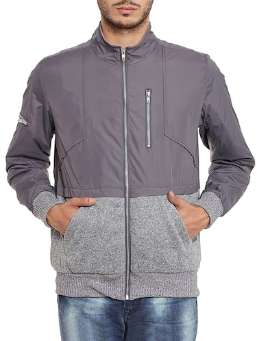 grey nylon quilted jacket - 11854096 - Standard Image - 1
